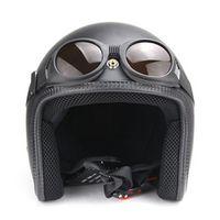 ZORO WWII Vintage Harley style motorcycle Pilot Motorbike goggles Retro Jet Helmet