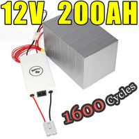CODDWATTSAMP 12v 200ah Golf Car Solar Energy storage LiFePO4 Battery Pack long life