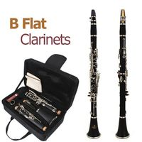 SLADE 660mm ABS 17 Key bB Flat Soprano Binocular Clarinet with Cleaning Cloth10 Reeds