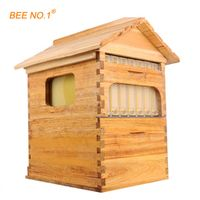 BEE.NO.1 NO.1 Wooden Langstroth Bee Honey Flow Hive 7 PCS