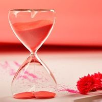 Lover sand clock Heart glass Wedding gifts home decorative