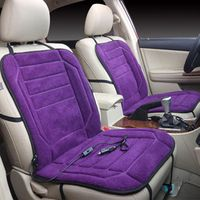 ISHOWTIENDA Car Seat Cover 12V Heating Heater Warmer Pad Winter cubre asiento