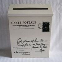 White Rustic postal post letter box wall mounted mailbox
