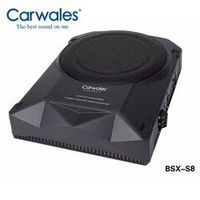 Carwales Active Powered System Amplified 8 inch Audio Sub Woofers Car Slim Flat