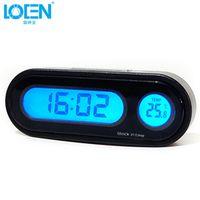 Loen LOENMini Automobile Digital Auto Watch Automotive Thermometer Hygrometer