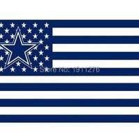 Dallas Cowboys  USA flag with star and stripe 3x5 FT Banner 100D Polyester NFL flag