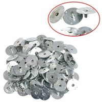 YAS 100/200Pcs Metal Sustainer Wick Tabs Silver