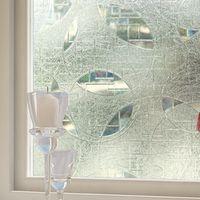 SUNICE Elegant Frosted Glass Window Sticker Film Floral