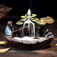 Backflow Incense Burner Ceramic 10Pcs Incense Cones