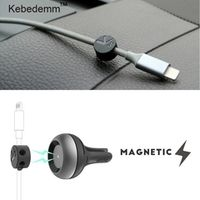 sikeo 2 in 1 cable fixer Air Vent Magnetic Clip Car Tidy Organizer Cord Management