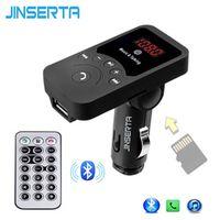 JINSERTA Wireless Bluetooth FM Transmitter Modulator Car Kit HandsFree MP3 Player