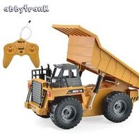 Abbyfrank Electric Remote Control Tipper RC Tractor Toy