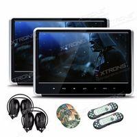 "XTRONS 11.6"" Silver Monitors HD Digital TFT Touch Panel 1080P Video Car Headrest"