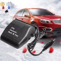 CATUO 120W Black Car Heater Cooler Cigarette Lighter Powered Vehicle Warmer