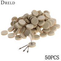 50Pcs 25mm Dremel Accessories Wool Felt Polishing Buffing Wheel Grinding Polishing Pad+2Pcs 3.2 mm Shanks for Dremel Rotary Tool
