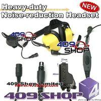 Heavy duty Noise reduction Headset-Yellow+Mini Din Plug 44-HT for XTS5000  MT2000 JT1000 MTX8000 MTX9000 GP900 GP1200 MTX838