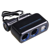 Fasdga SHUNWEI 12 V USB 3 Socket Multi Splitter Charger Power Adapter Auto