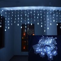 LMID 4M*0.6M 120 LED Home Outdoor Decorative Wedding Xmas String Fairy Lights Curtain