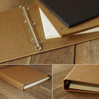 New Arrived Blank Scrapbook Album Diy Photo Albums Book Doodle Notepad Vintage Paper Diaries