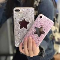 Gold Foil Star Mirror Diamond Bling metals tassel S phone Case Cover For samsung A510 A310 G530 NOTE 4 5 A3 A5 2017 back case