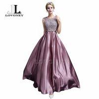 LOVONEY S306 Sexy Prom Dresses 2017 A-Line Floor-length