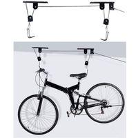 ROBESBON Bike Bicycle Ceiling Mounted Hoist Storage Garage Hanger Pulley Rack 45 LBS