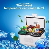 Excelvan DC 12V/24V 12L Portable Mute Design Dual-core Mini Auto Fridge Truck Home