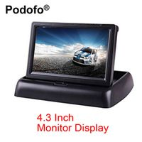 Podofo 4.3 Inch TFT LCD Foldable Display Reverse Camera Parking System