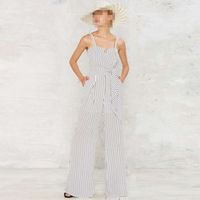 Haoduoyi 2018 Summer Women Lace Up Striped Sexy