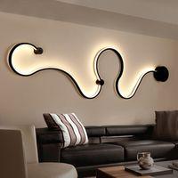 MDWELL Modern minimalist creative wall lamp black/white led living room wall lights