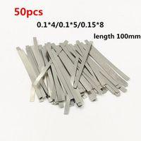 ZIYANGOL 50pcs plated steel Nickel Plate Strap Strip Sheets for battery spot
