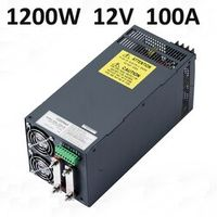 2 pcs SMPS PSU 1200W 100A Switching Power Supply Driver for LED Strip 12V DC