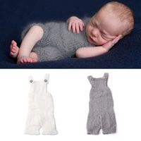1Pc Newborn Baby Infant Knitted Mohair Overalls Rompers Photography Props Costume