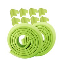 GREEN 10 in 1 CHINHUAN 4 M Edge + 8 Corners Safe Edge and Corner Cushion Premium Childproofing Guard Child Protector Corners
