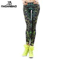 NADANBAO wholelsales 3D Printed color legging for Woman