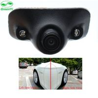 GreenYi Mini HD Night Vision Car Front Side View Camera with 2 IR LED Blind Spot Area