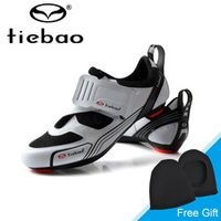 Tiebao Men Road Bike Bicycle Shoes Anti-slip Breathable Cycling Shoes Triathlon