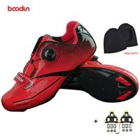 BOODUN Men Professional Road Bike Shoes Anti-slip Self-locking Cycling Shoes Sports