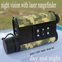 FS Day Rangefinder Laser Ranging Digital Compass Night Vision Scope IR NV Telescope