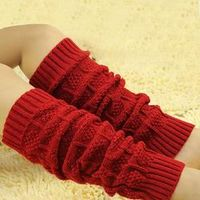 CHAMSGEND Women's Cable Knit Leg Warmers Socks