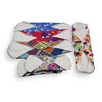 6pcs/set S M L Size Washable Reusable Bamboo Cloth Sanitary Napkin Menstrual Pads for Women Higiene Feminina