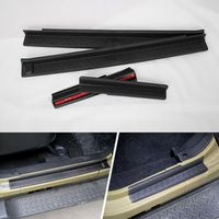 4pcs/set Black ABS Non-slip Door Sill Entry Guards Strips Scuff Plates Protect Cover Trim For Jeep Wrangler JK 4DR 4 Door