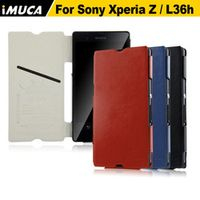 iMUCA Case for Sony Xperia Z L36h Luxury Flip Leather Case Capa For Sony Xperia Z L36h C6603 Protective Case Mobile Phone Bag