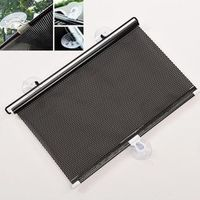 Mayitr 125*40cm Auto Accessories Retractable Side Car Sun Shade Curtain Automatic