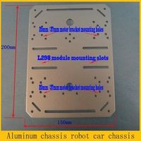 Official DOIT Metal Panel Square Frame for Car Chassis Remote Control Tank Chassis 4wd Wheeled Car Chassis