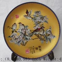 China ceramic color painting of flowers and porcelain plate