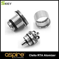 New Arrival Aspire Cleito RTA system with dual coil velocity and tempestuous airflow heads DIY oil filling 1pc/Lot