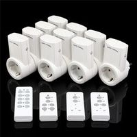 EU 1/2/3/4 Pack 10A Standard Wireless Remote Control Electrical Socket Switch Home Mains Plug Power Outlet Adapter
