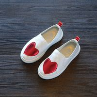 2017 New Sneakers Children Shoes Kids Sneakers Girl Red Green Floral Slip-On Breathable Flat Shoe Infant Girl Hollow Casual Shoe