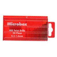 alloet 20 pcs Mini HSS High Speed Steel Micro Twist Drill Bit Set 0.3mm-1.6mm